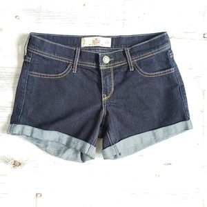 Hollister denim midi shorts Size 3 W 26
